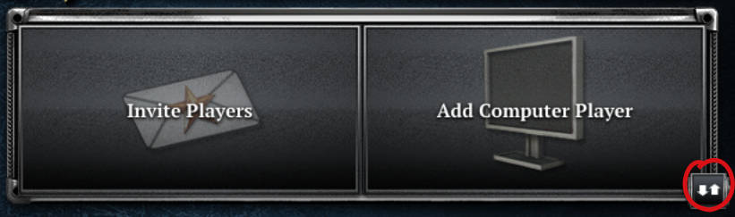Image of an empty player slot showing the arrows icon