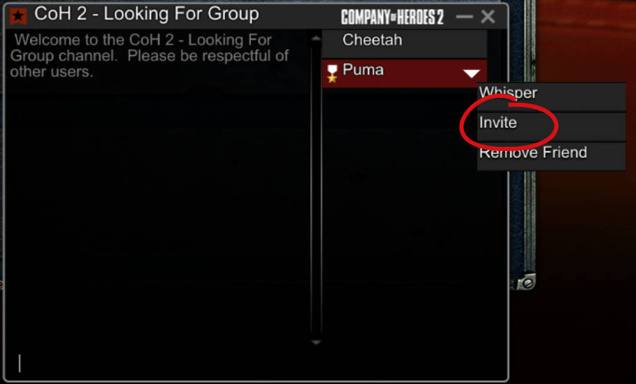 Image of the invite button in a chat room