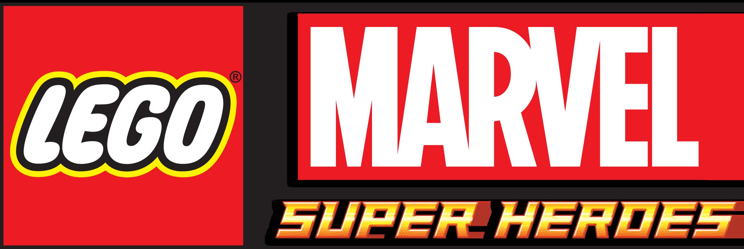 Resultado de imagem para LEGO Marvel Super Heroes logo png