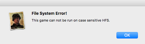 Error message dialog box with the title File System Error!